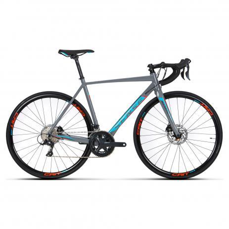 Bicicleta Sense Criterium Race 2019 Cinza/Azul - Aro 700, 18v