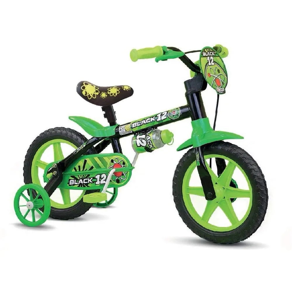 Bicicleta Nathor Black PU - Aro 12