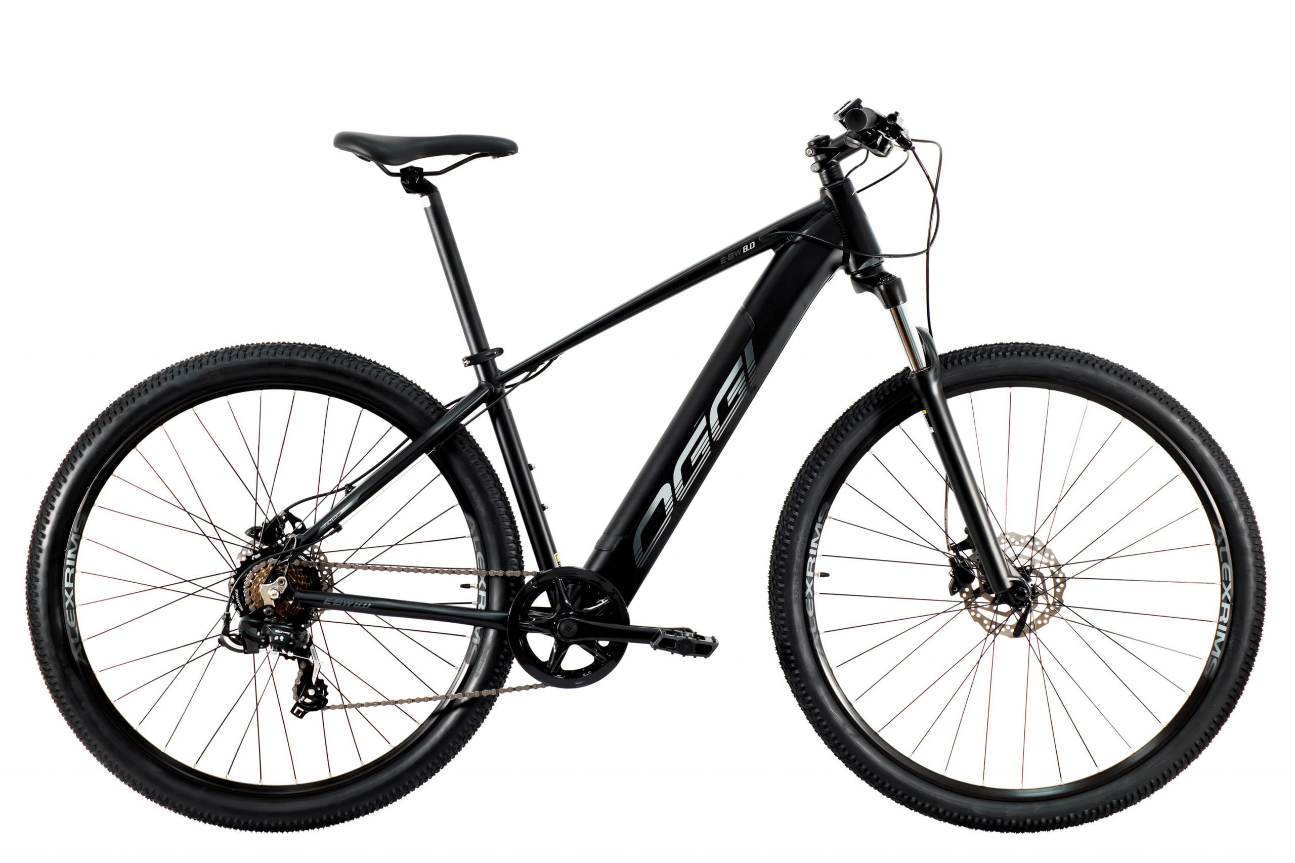 Bicicleta Elétrica Oggi Big Wheel 8.0 2021 Preta/Grafite Aro 29, 7v