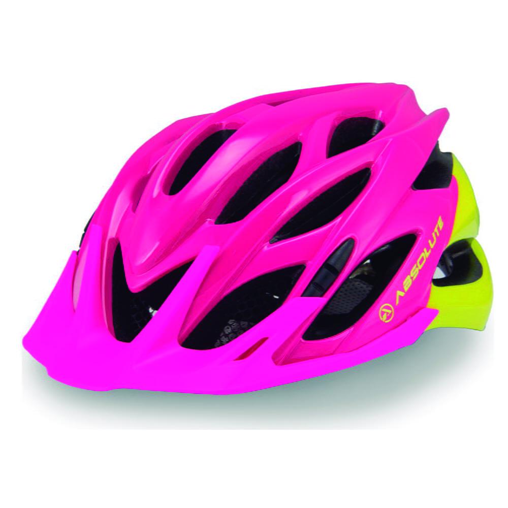 Capacete Ciclismo Absolute Mia - Rosa/Amarelo