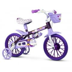 Bicicleta Nathor Puppy Roxa - Aro 12
