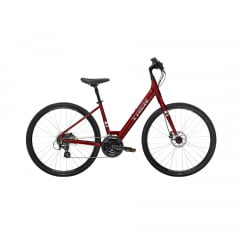 Bicicleta Trek Verve 2 Disc Low Step Vermelha 2021 - Aro 700, 24v