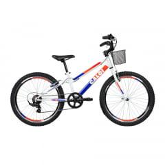 Bicicleta Caloi Sweet Branca 2020- Aro 24, 7v