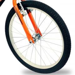 Bicicleta Nathor Apollo - Aro 20, Preto/Laranja